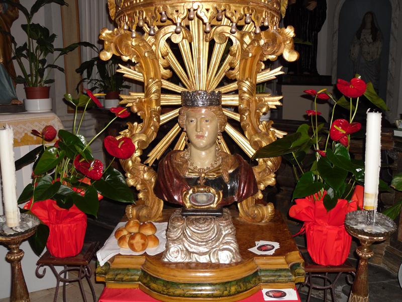 il busto di santa Teopista