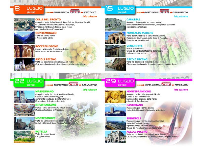 Luglio, gli itinerari turistici del programma organizzato da Provincia e Pro Loco picene