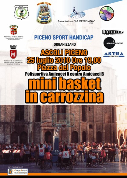 mini basket in carrozzina