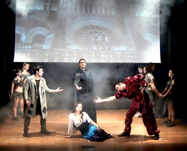 Una scena del musical