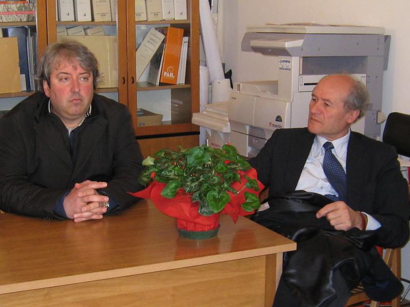 Il vicepresidente della Provincia Renato Rasicci e l'assessore alla Viabilità Elicio Romandini
