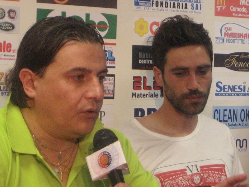 Sergio Spina con il nuovo acquisto Cristian Pazzi
