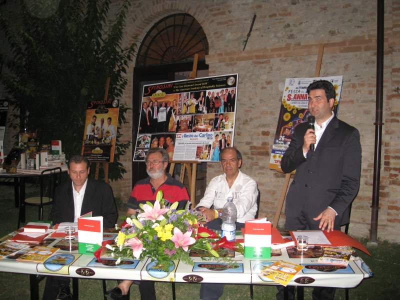 Da sinistra Matteo Troiani, Nicola dante Basile, Vincenzo Spinosi e Stefano Stracci
