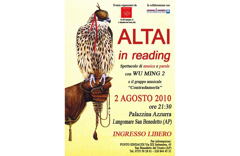 Wu Ming, reading di Altai