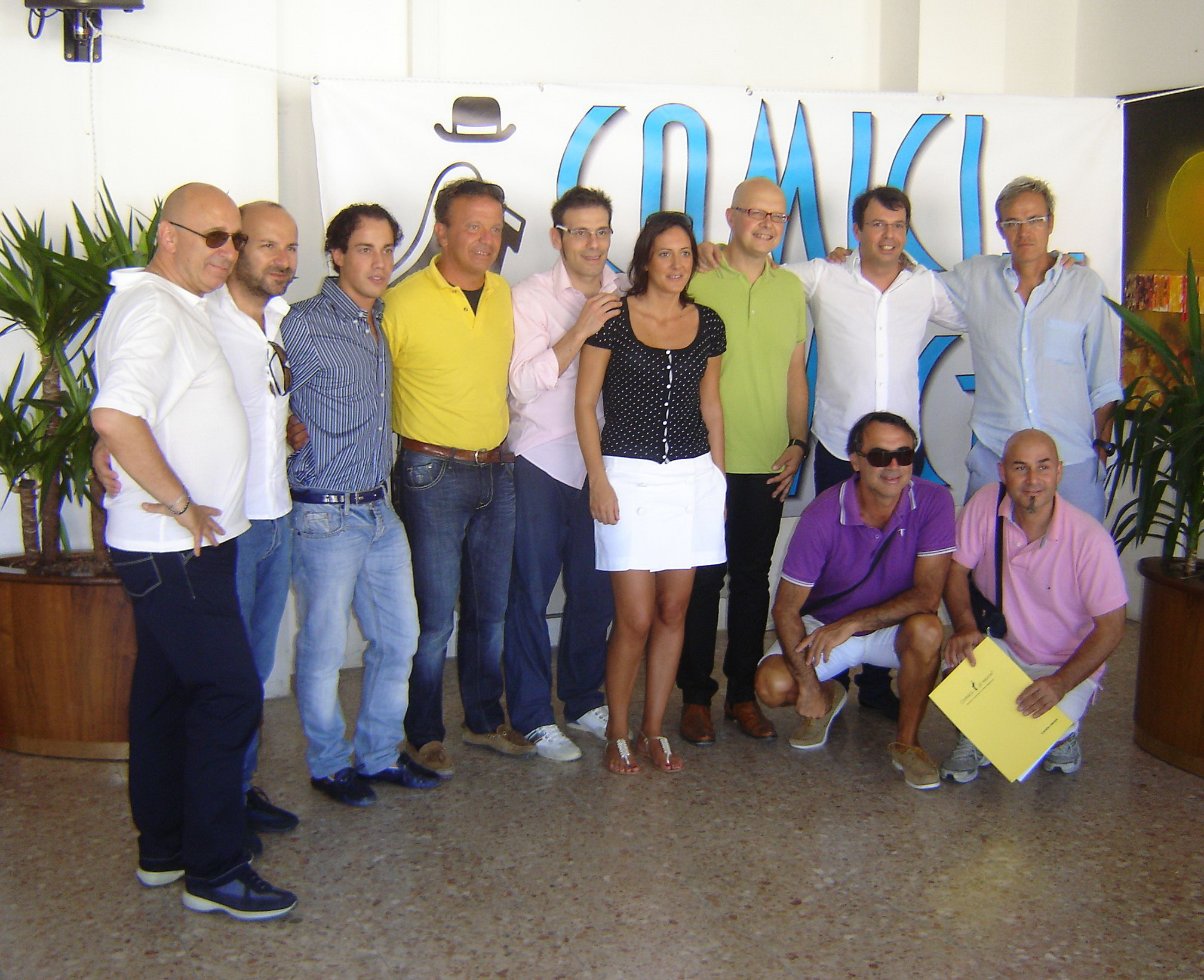 L'Amministrazione comunale di Sant'Egidio alla Vibrata con gli organizzatori di
