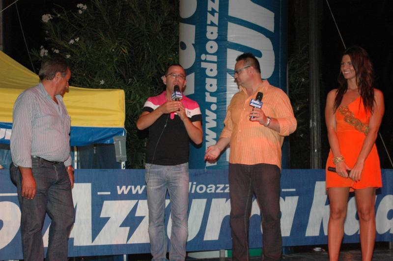 Carnevale estivo 2010, San Benedetto (foto Troiani): il presentatore Sandro Benigni