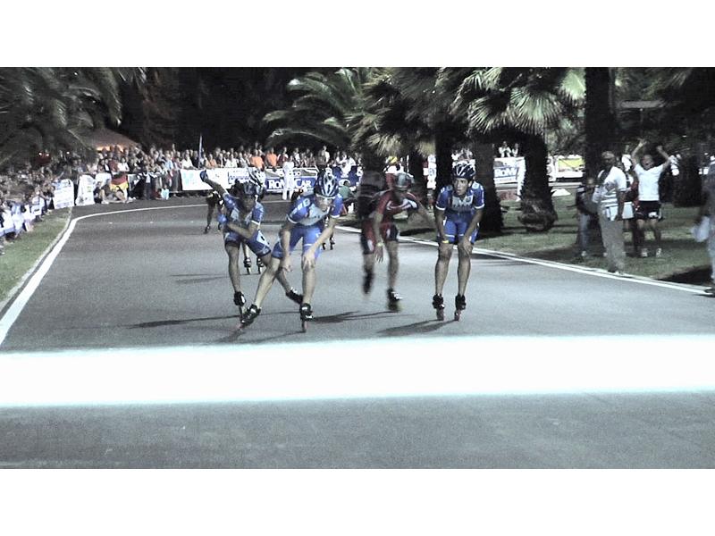 Mercoledì sera, l'arrivo dei 3 cadetti che hanno fatto oro, argento e bronzo nei 10000 metri a eliminazione: Brian Geronazzo, Stefano Mareschi e Alberto Putignano