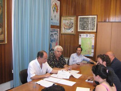 La conferenza stampa del sindaco di Alba Adriatica Franchino Giovannelli