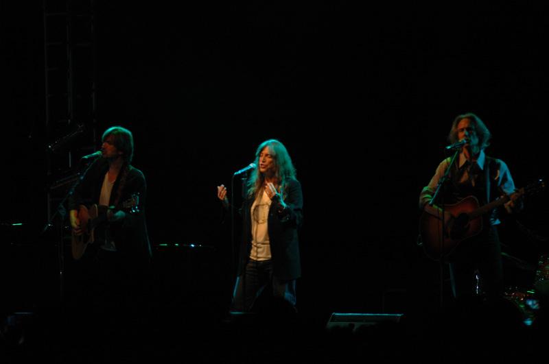 Lenny Kane, Patty Smith e Tony Shanahan (foto Troiani)