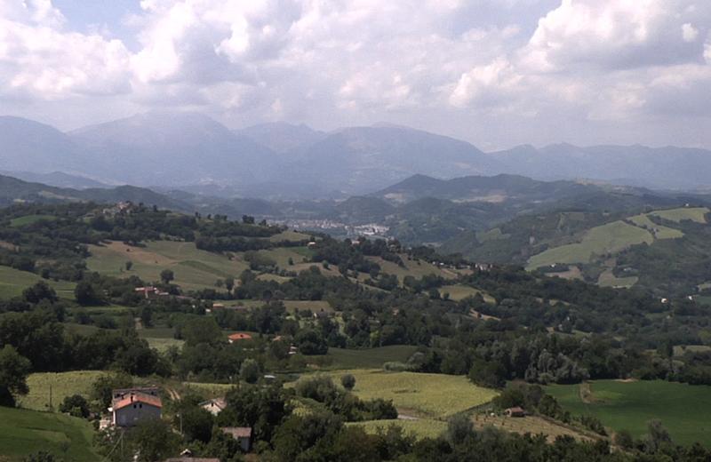 Panorama del piceno visto da Force