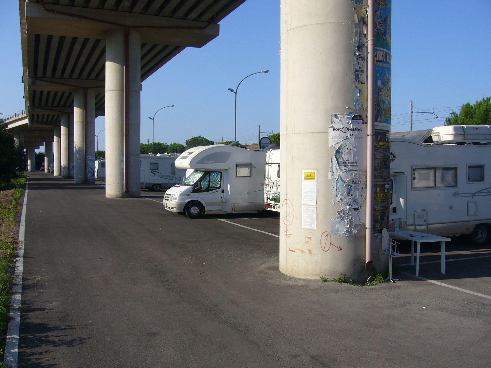 Area camper di Viale dello Sport