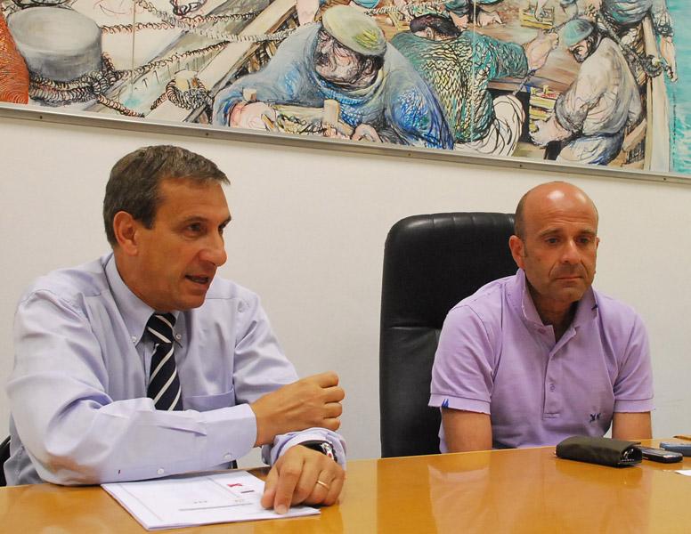 Romolo Bugari e l'assessore allo Sport Eldo Fanini
