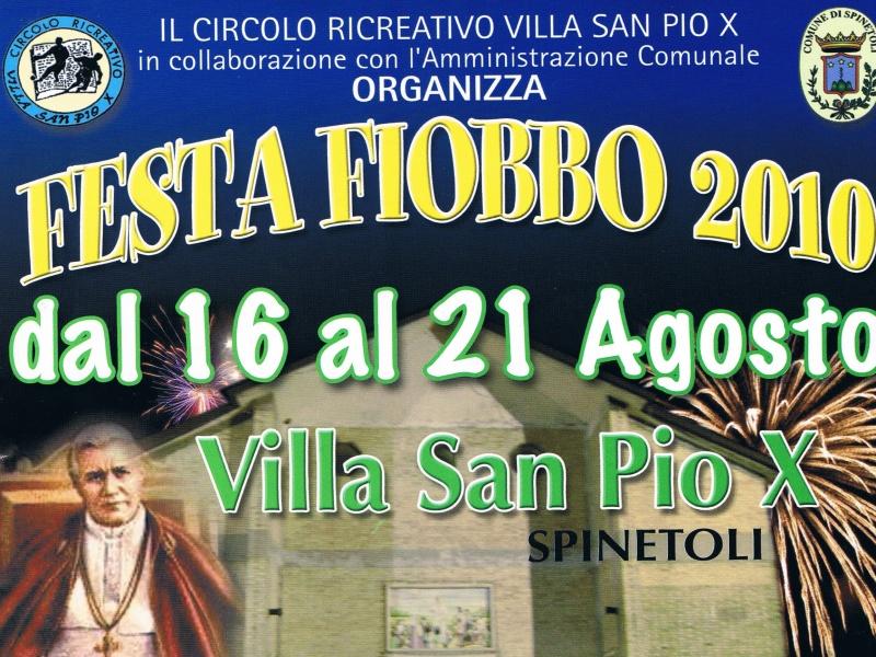 Locandina della XXIII Festa Fiobbo