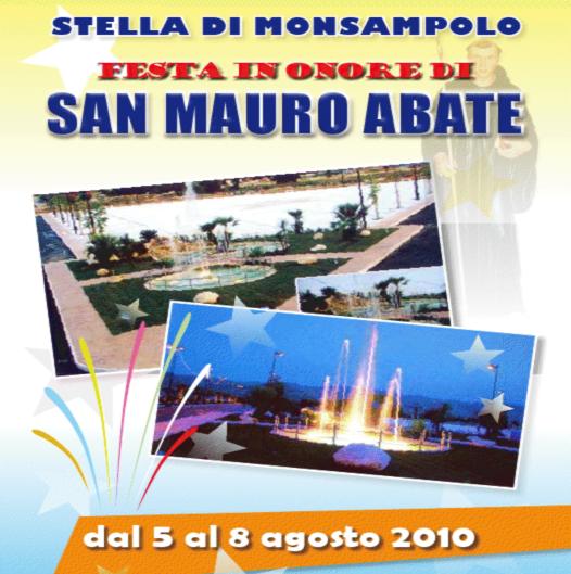 Locandina della Festa di San Mauro Abate