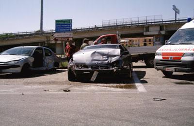 Le due macchine dell'incidente