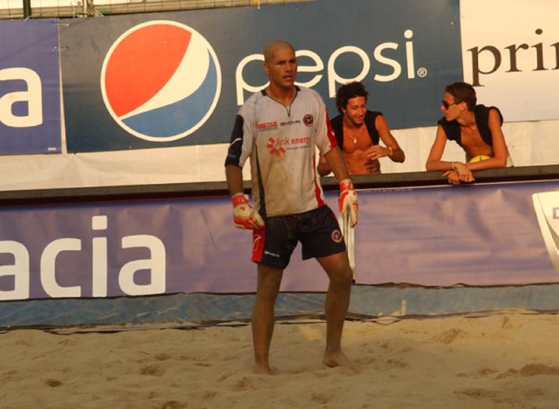 Piero Spina, portierone della Samb Beach Soccer 2010