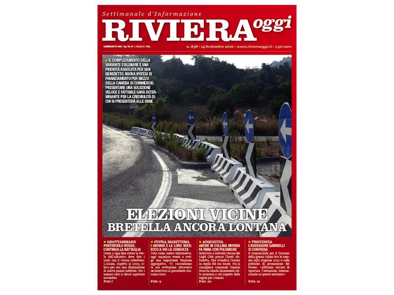 Riviera Oggi numero 838: la copertina per le edicole di San Benedetto