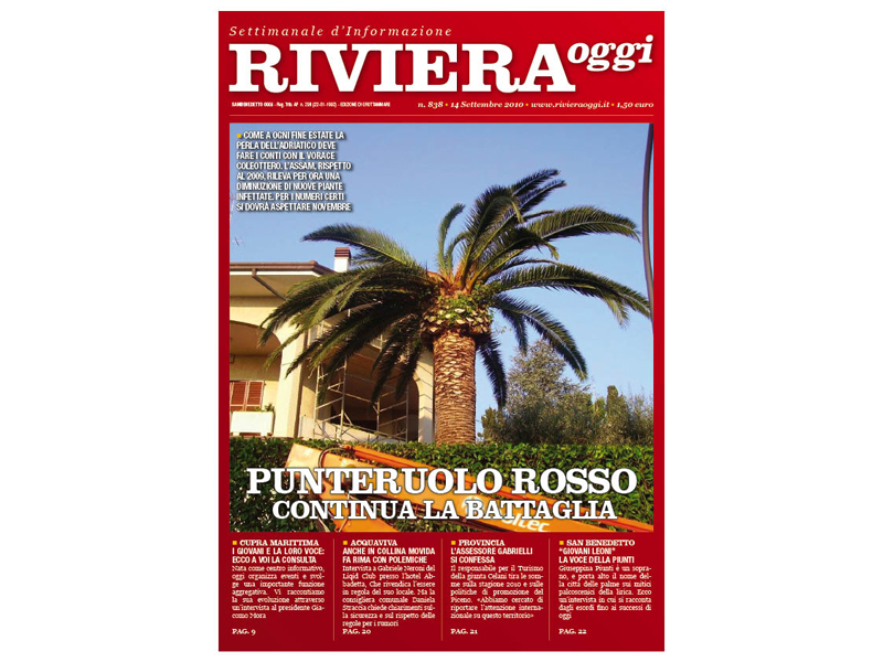Riviera Oggi numero 838: la copertina per le edicole di Grottammare