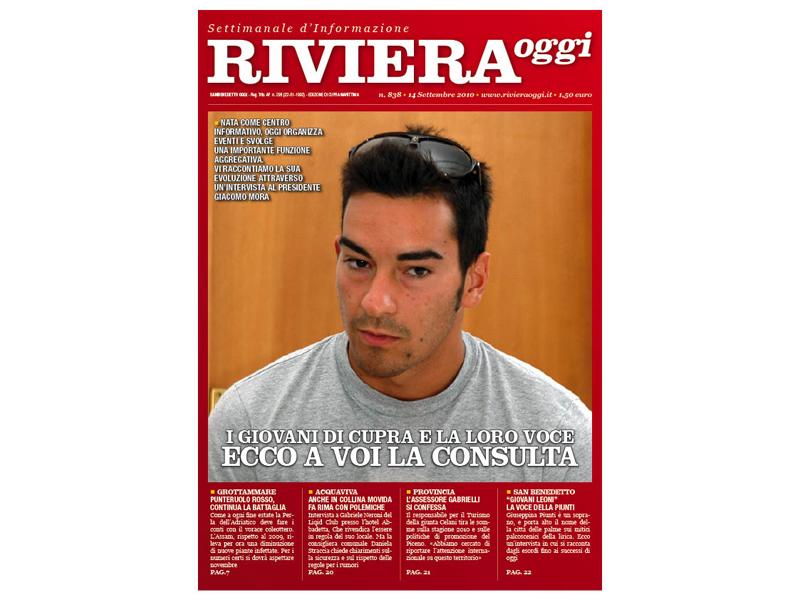 Riviera Oggi numero 838: la copertina per le edicole di Cupra Marittima