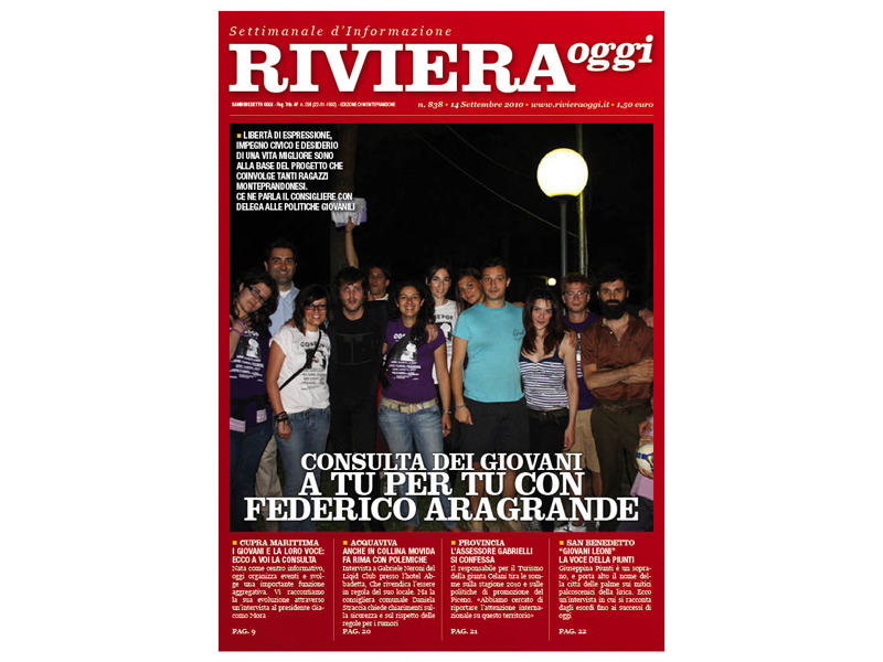 Riviera Oggi numero 838: la copertina per le edicole di Monteprandone