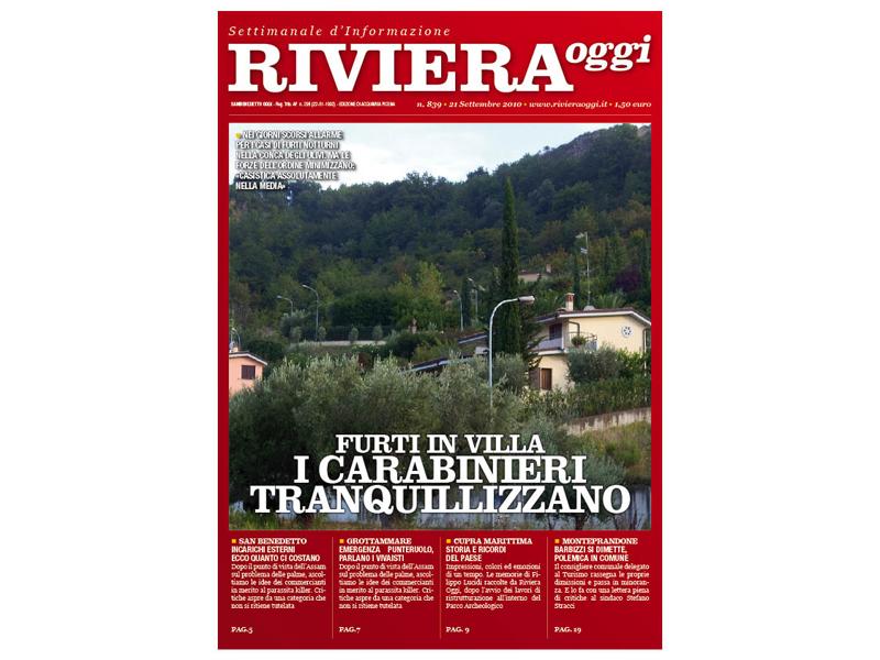 Riviera Oggi 839, la copertina per le edicole di Acquaviva