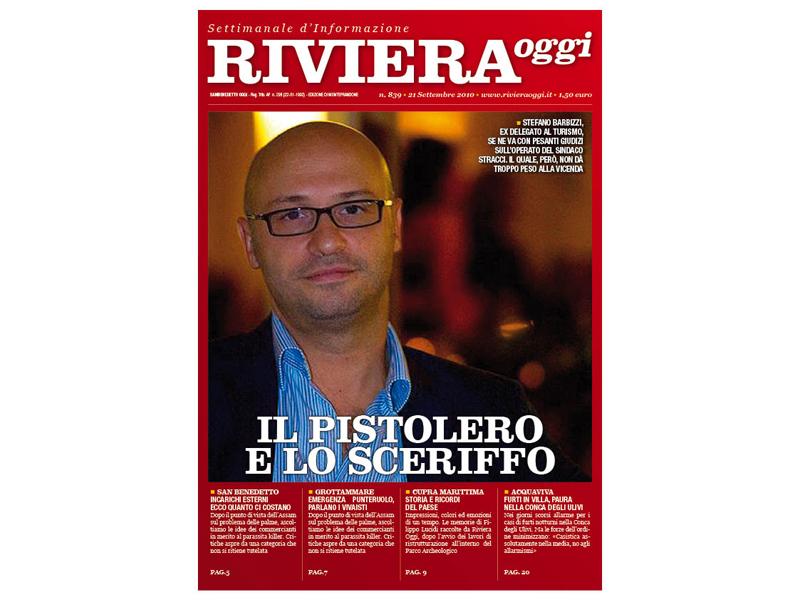Riviera oggi 839, la copertina per le edicole di monteprandone