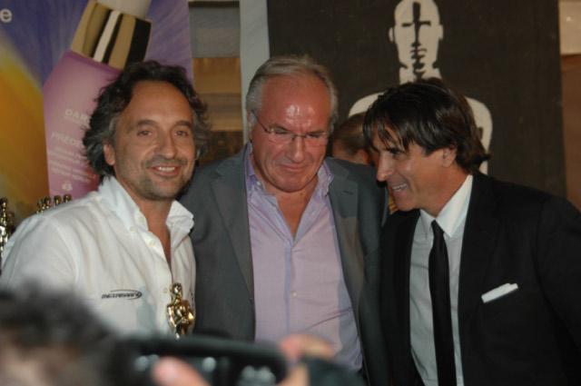 Pennesi con Sandro Assenti e l'industriale Battista Faraotti