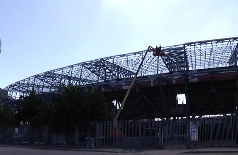 Settembre 2010: i lavori dello Stadio Riviera delle Palme