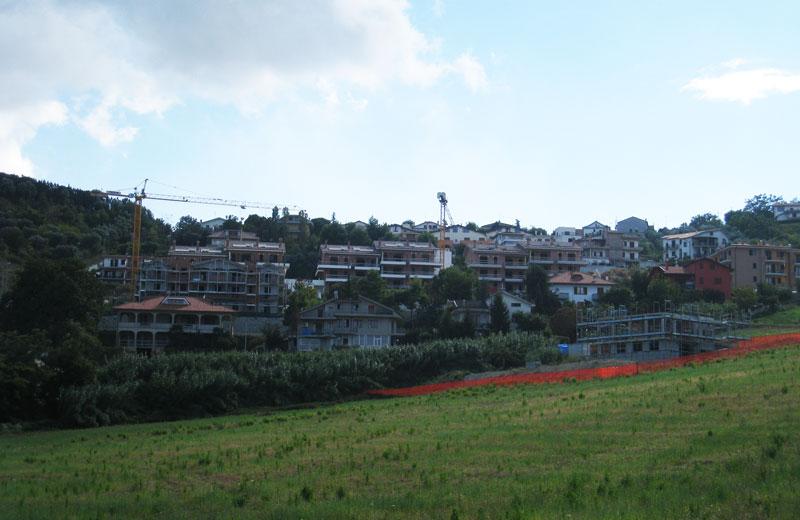 Una visuale del nuovo quartiere residenziale in contrada San Martino a Colonnella