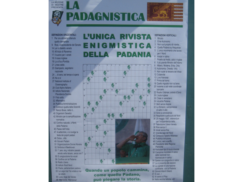 Venezia, 12 settembre: addio Settimana Enigmistica, per la Lega c'è la