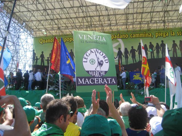 Venezia, 12 settembre, raduno Lega Nord: leghisti di Macerata presenti