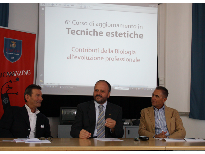 Il Professor Santarelli, il Sindaco Gaspari e il Presidente del CUP De Santis