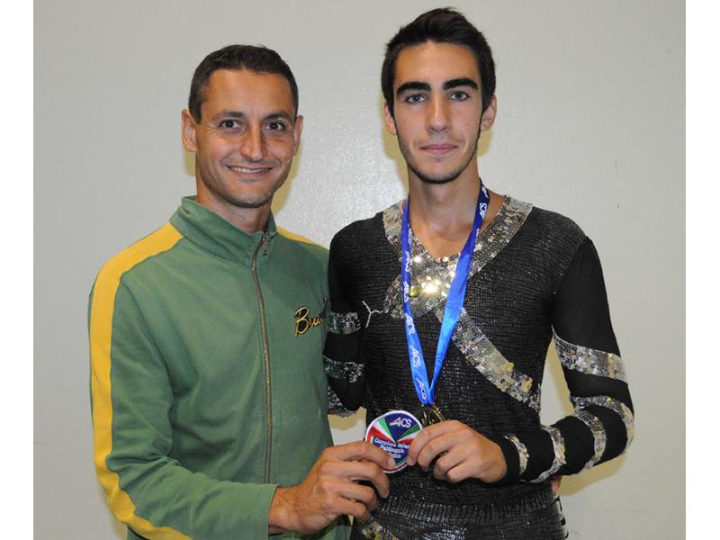Il tecnico Ivan Bovara e l'atleta Edoardo De Renzis ai Campionati Italiani di Misano 2010