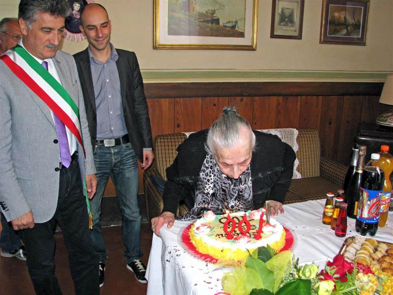 La centenaria Olga Tosi