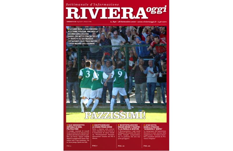 La copertina numero 840 di Riviera Oggi di San Benedetto