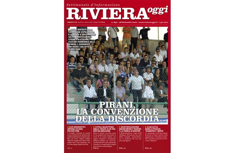 La copertina di Riviera Oggi per il numero 840, a Grottammare