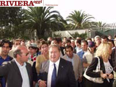 Ottobre 2002, bagno di folla per Gaucci ed Elisabetta Tulliani al Riviera delle Palme