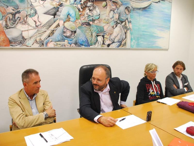 Conferenza offerta universitaria picena. Da sinistra: Renzo Maria De Santis, Giovanni Gaspari, Margherita Sorge, Pierluigi Raimondi, il direttore del Cup