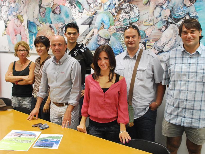 L'assessore Eldo Fanini con gli insegnanti di ginnastica dolce Anna Mancini, Camilla Ferraiolo, Teresa Morelli, Filippo Del Zompo