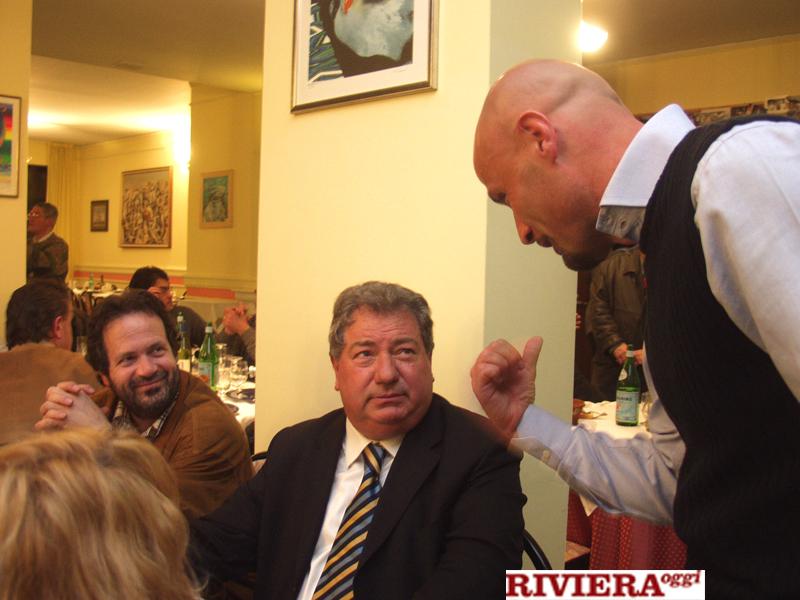 Aprile 2002, ristorante Il Gambero: Martinelli, Gaucci e Colantuono. La domenica successiva la Samb vinse clamorosamente a Rimini 3-4 e divenne davvero inarrestabile