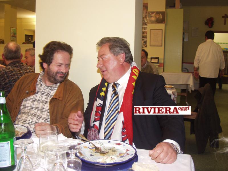 Aprile 2002, ristorante Il Gambero: Martinelli, Gaucci ed Elisabetta Tulliani