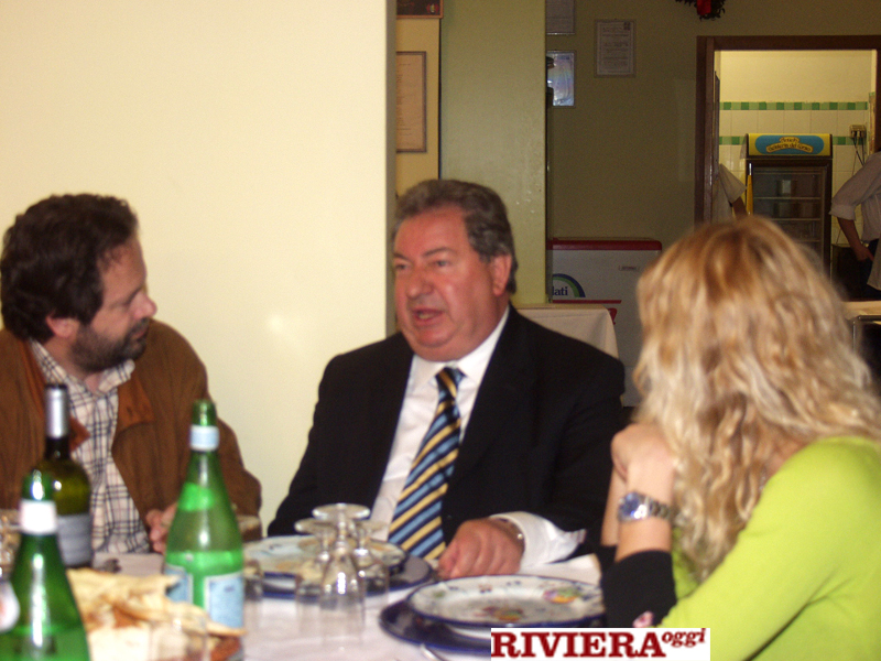 Aprile 2002, ristorante Il Gambero: Martinelli, Gaucci e Tulliani