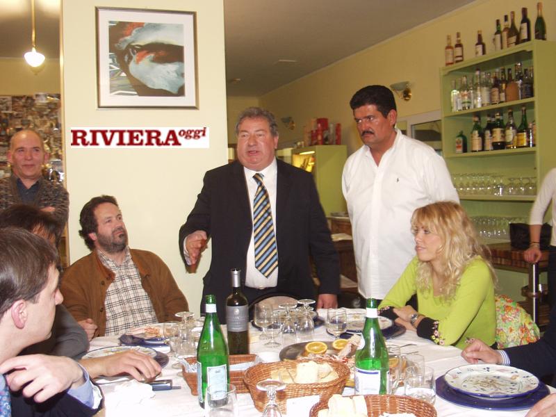 Aprile 2002, ristorante Il Gambero: Martinelli, Gaucci, il titolare