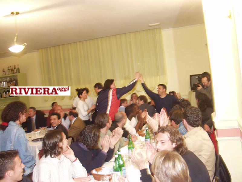 Aprile 2002, ristorante Il Gambero: Scintilla con Criniti