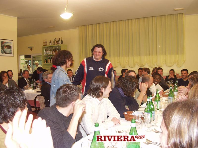 Aprile 2002, ristorante Il Gambero: il tifoso Scintilla