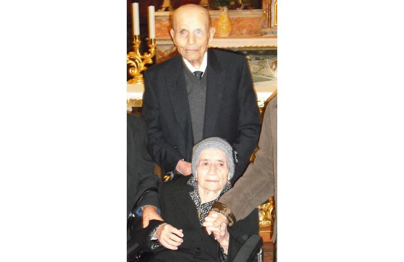 70 anni di matrimonio per Giuseppina ed Enrico Cannella