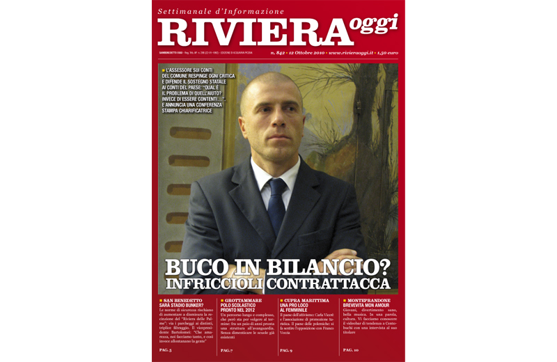 La copertina di Riviera Oggi 842 ad Acquaviva Picena