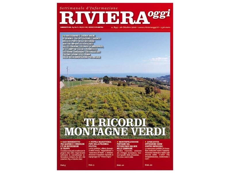Riviera Oggi 844, la copertina per l'edizione di Cupra-Massignano