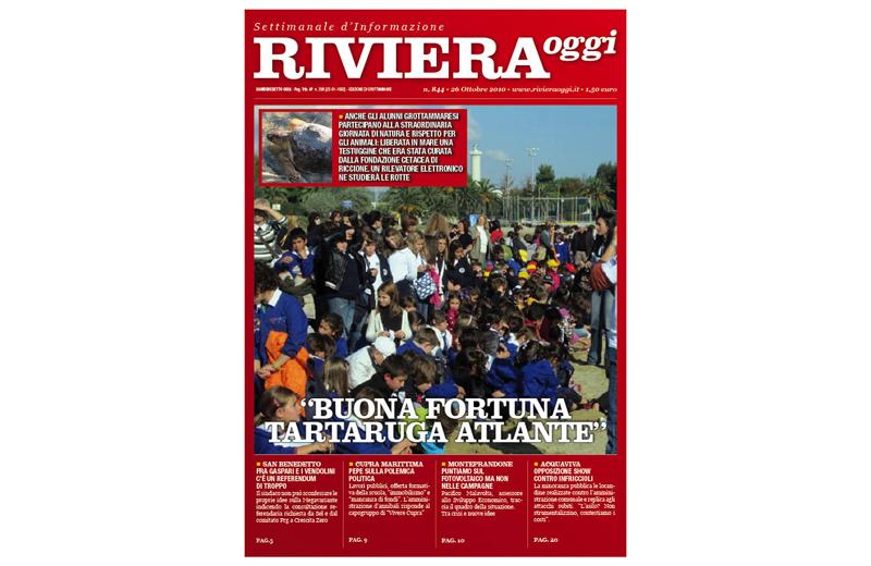 Riviera Oggi 844, la copertina per l'edizione di Grottammare