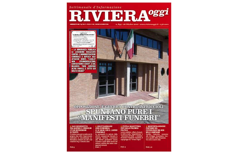Riviera Oggi 844, la copertina per l'edizione di Acquaviva Picena